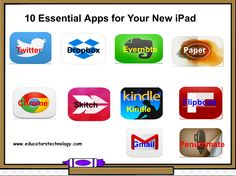 10 Fundamental Apps for Your New iPad ~ Educational Technology and Mobile Learning