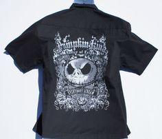 Jack Skellington 93 Bowling Men Shirt w/ Tags Nightmare Disney Parks Black Small #DisneyParksExclusive