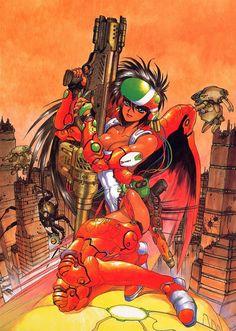 Rapport avec Cyberpunk, by Masamune Shirow. Art Manga, Manga Artist, Manga Anime, Anime Art, Cyberpunk, Comic Books Art, Comic Art, Character Art, Character Design