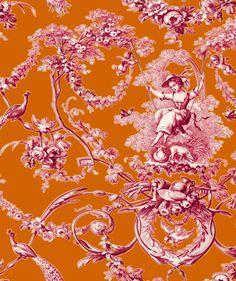 #Bouchara - tissu toile de Jouy - Bouchara Collection - www.bouchara.com/