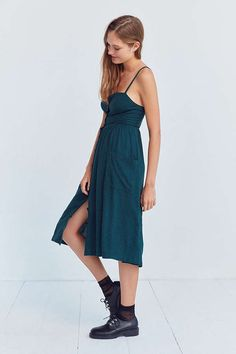 Cooperative Emilia Linen Button-Down Midi Dress #ad