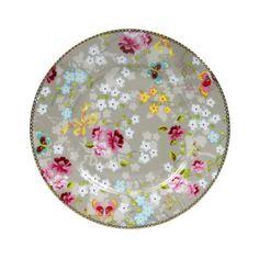 Assiette à dessert en porcelaine ronde motif bucolique D.17cm CHINESE ROSE Pip Studio