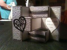 Trifold shutter wedding card