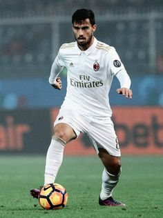 0f9edb85845 Suso of AC Milan in action during the Serie A match between Genoa CFC and  AC Milan at Stadio Luigi Ferraris on October 2016 in Genoa