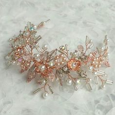 Bridal Headpiece Crystal Bridal Hair Piece Cristal Pearl