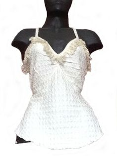 Weißes ärmelloses #Shirt, Damen, 100% #Pima #Baumwolle.