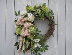 Garden Wreath, Spring Wreath, Summer Wreath, Designer Wreath, Home Decor, Front Door Wreath