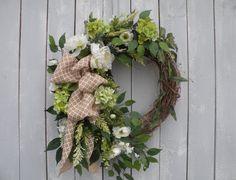 Garden Wreath, Spring Wreath, Summer Wreath, Designer Wreath, Home Decor, Front Door Wreath