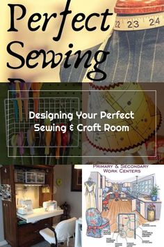 Learn how to design your prefect sewing and craft room. Layout, lighting, worktables, cutting tables, fabric storage, and more. Low cost hacks and DIY projects for making the a sewing room or craft room that you love. || Sewing | Organization | Cutting Table | Craft Room | Sewing Room | Design Room || #sewing #organization #crafts
