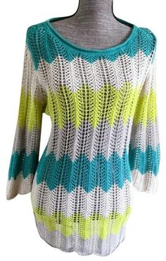 St. John's Bay Knit Sweater Chevron Top