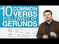 10 common verbs followed by gerunds #LearnEnglish