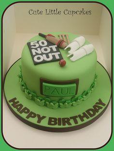 Birthday Cake Fgfcake Th Birthday Cake X - Pappot Birthday Cakes For Men, Cricket Birthday Cake, Cricket Theme Cake, Themed Birthday Cakes, Cakes For Boys, 50th Birthday, Theme Cakes, Birthday Ideas, Dad Cake