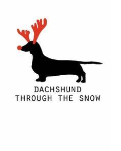 dachshund-through-the-snow.jpg (334×418)