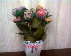 Vaso de flores de tecido