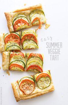 Easy Summer Veggie Tart via @realfoodbydad