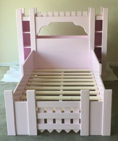 Build a castle bed for the little princess in your life. Get the free DIY plans at buildsomething.com