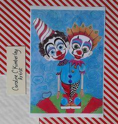 Two Headed Clown digital reproduction Print £9.00