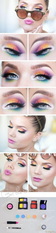 Kolorowy, letni make-up doda Ci uroku!