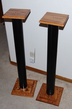 DIY speaker stands ideas, wood, ikea, simple, shelves, PVC pipes, spaces, mounted TV, built ins, studio and satellite