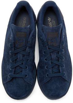 b1ed6d579b9 adidas Originals - Navy Suede Stan Smith Sneakers Navy Blue Sneakers
