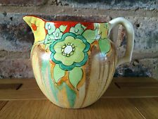 Stunning Clarice Cliff 1935 Art Deco Jonquil Patterned Perth Jug
