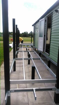 Steel frame deck by bm maintenance