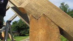 Woodworking Program Our program allows you to build your own timber frame home or cabin with our guidance, help, teaching and supervision. Woodworking Courses, Learn Woodworking, Woodworking Techniques, Woodworking School, Horse Run In Shelter, Pre Built Cabins, Shed Construction, Timber Buildings, Roof Installation