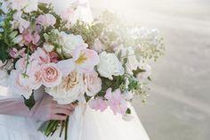 Mibellarosa Designs Houston Wedding Florist Bouquet Flowers Purple Pink Yellow