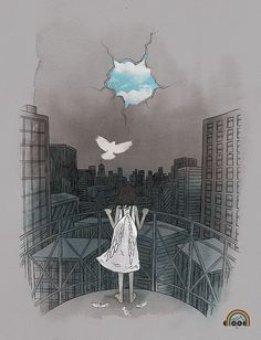 Fly Away by ILoveDoodle, via Flickr