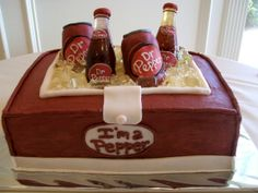 Amazing Dr. Pepper Cake Dr Pepper Cake, Cake Pictures, Cake Pics, Fancy Drinks, Cakes And More, Cake Decorating, Birthday Cake, Stuffed Peppers, Soft Drink