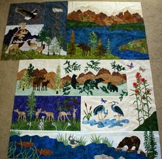 """""""at home in the woods"""" quilt, pattern by mckenna ryan, made by cheryl on the so many quilts, so little time! blogspot (fatesdesigns)"""