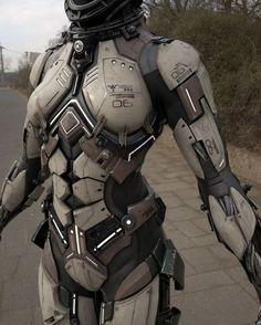Nice detail Star Citizen, Suit Of Armor, Body Armor, Armor Concept, Concept Art, Armadura Sci Fi, Science Fiction, Futuristic Armour, Futuristic Robot