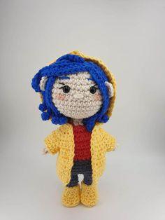Coraline – Ninja Cat Crafts Crochet Patterns Amigurumi, Crochet Stitches, Crochet Hooks, Single Crochet Decrease, Single Crochet Stitch, Art Patterns, Pattern Art, Aran Weight Yarn, Cat Crafts
