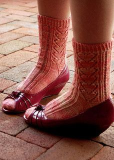 True Love Socks by Thayer Preece Parker Knit from the toe up, with a gusset heel (heel flap). 4 ply fingering yarn and FREE download