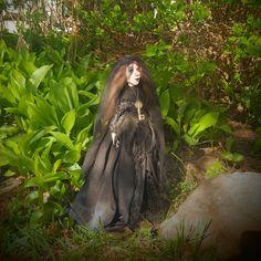 Art Doll - Gothic Doll - Witch Doll - Black Bride- Dark Bride - Artistic Doll - Porcelain Doll - Dark Lady - OOAK Doll - Creepy - Halloween by Rustiikkitupa on Etsy
