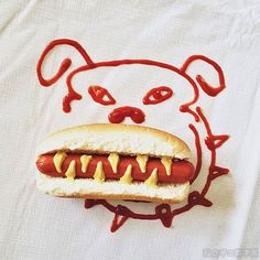 I love this! This so creative, you do it with a red marker and a hotdog.....Brillaint!