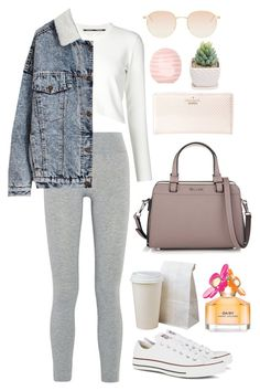 """""""Untitled #27"""" by t-k-amie ❤ liked on Polyvore featuring LAAIN, Proenza Schouler, Kate Spade, Calvin Klein, Marc Jacobs, Topshop, Mykita, Converse, women's clothing and women"""
