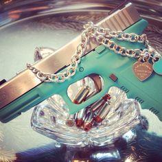 Tiffany blue Glock by Hayes Custom Guns, Austin, Texas