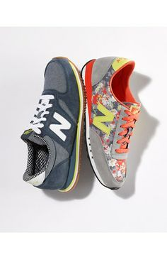 Loving the pattern and color combinations of these New Balance '420 Tomboy' Sneakers.