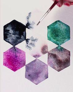Watercolor Lettering, Watercolor Paintings, Cool Shapes, Cute Easy Drawings, Blackpink Fashion, Watercolor Pattern, Amelie, Mehndi Designs, Artsy Fartsy