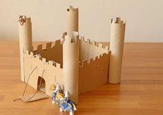 easy cardboard castle for kids to make