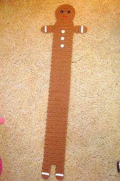 Crochet Scarfs Gingerbread Boy Scarf Pattern :: Bake (or Make!) A Dozen Free Knit Or Crochet, Crochet Scarves, Crochet For Kids, Crochet Shawl, Crochet Crafts, Yarn Crafts, Crochet Clothes, Free Crochet, Simply Crochet
