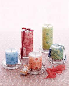 DIY~ Wrap a Candle with a Free Printable  Decal.