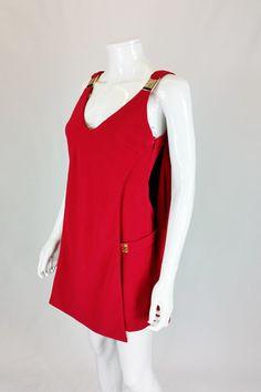 VERSACE COLLECTION ROMAN STYLE LAYERED MINI DRESS