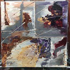 """""""Herfst-achtig"""" op doek.  Te koop, heb je interesse, neem dan contact op met de kunstenares middels een persoonlijk berichtje."""