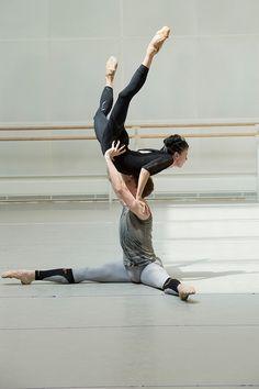 Edward Watson and Natalia Osipova rehearsing for 'Connectome'. Photo: Bill Cooper.