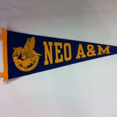 NEO A with Norse mascot Royal and gold. Miami, Oklahoma. I attended from 1973 to 1975