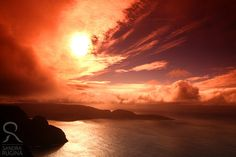 Norway, North cape, Nordkapp sunset photo print, 8inch x 12inch, sunset over the Northern sea high quality art print. $25.00, via Etsy.