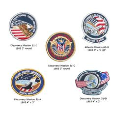 Vintage NASA Space Shuttle Mission Patches. $13.95, via Etsy.