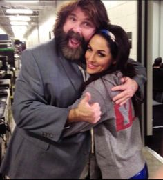 Brie Bella & Mick Foley